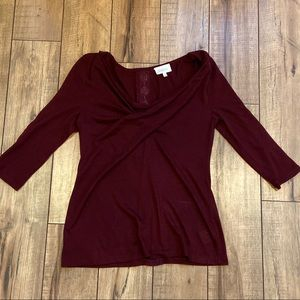 Anthropologie Deletta Small Top lace 3/4 sleeve